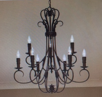 Golden Lighting -8606-CN9 RBZ - 9 Light Candelabra Chandelier